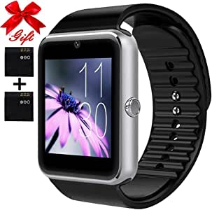 OumuEle Smart Watch for Android Phones with SIM Card Slot Camera, Bluetooth Watch Phone Touchscreen Compatible iOS Phones, Smart Fitness Watch with ...
