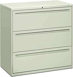 product image for HON 793LQ 700 Series 42 by 19-1/4-Inch 3-Drawer Lateral File, Light Gray