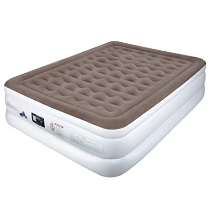 5265c0a57d4 Etekcity Twin Queen Size Comfort Air Mattress- Blow Up Bed Inflatable  Mattress Raised Airbed with Built-in Pump for Guest
