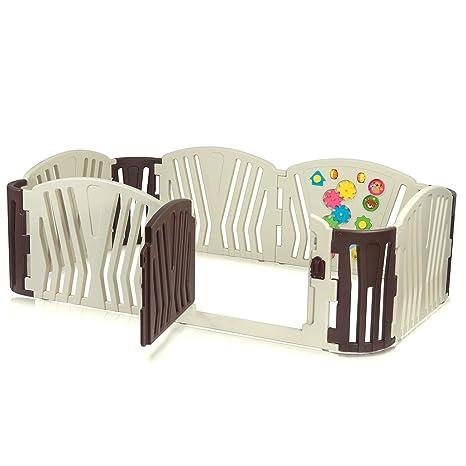 Baby Vivo Baby Playpen Foldable Plastic Portable Room Divider Addition Baby Vivo