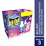 All Out Power Plus Floral Fragrance Refills Twin Value Pack of 3