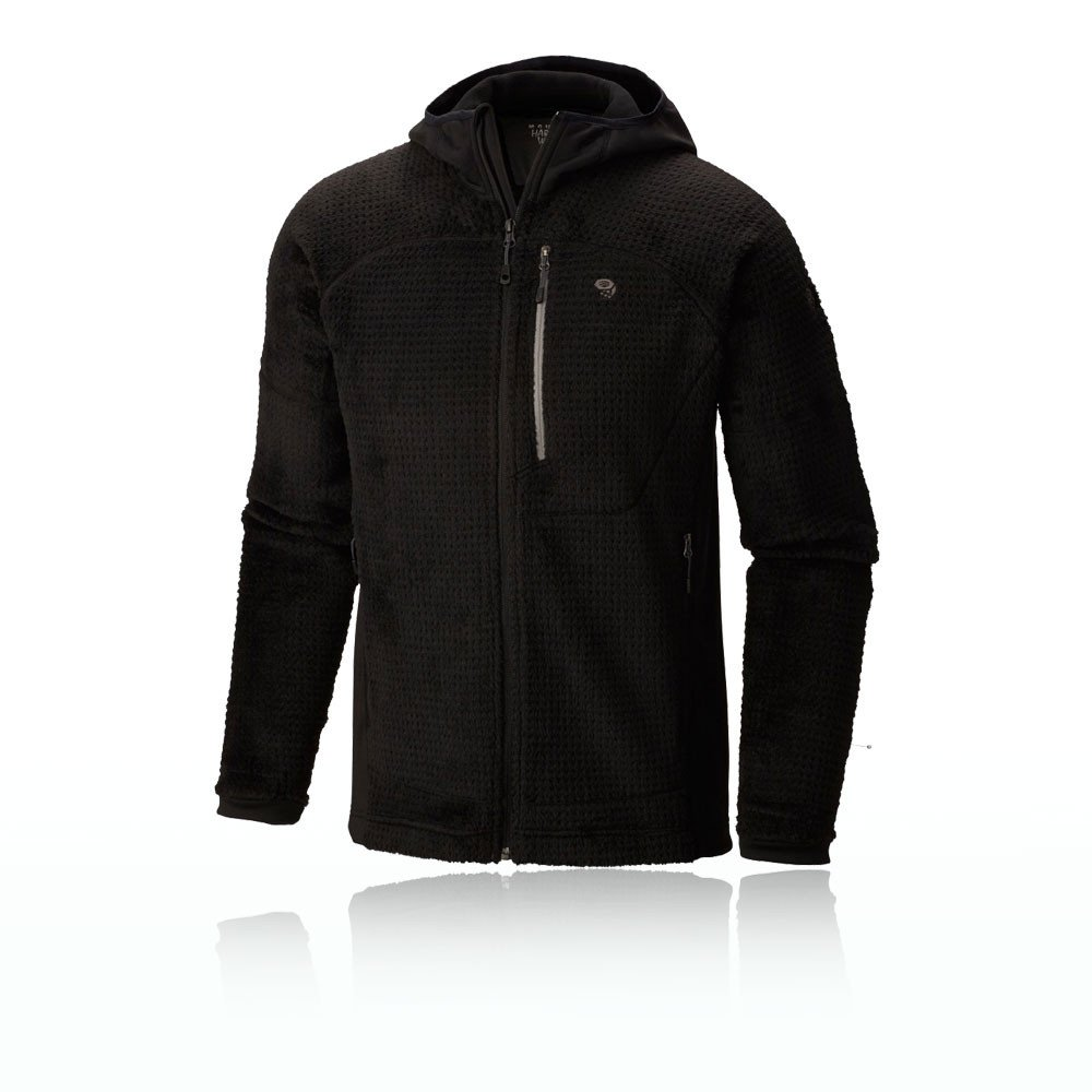 Mountain Hardwear Monkey Man Grid II Hooded Jacket - Men's Black X-Large