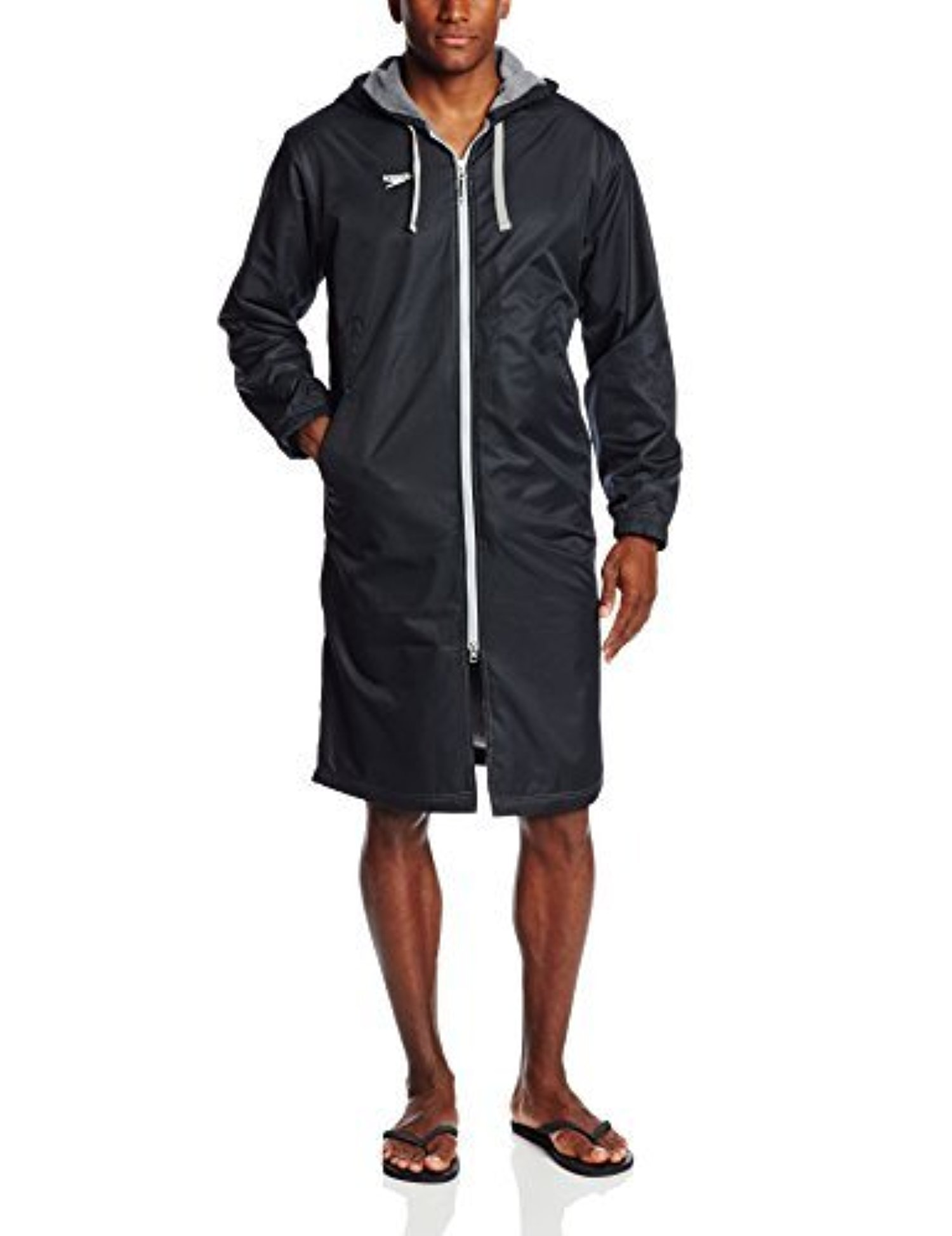 Speedo Men's Team Parka Speedo Black S & Travel Sunscreen Spray (SPF 15) Bundle by Speedo