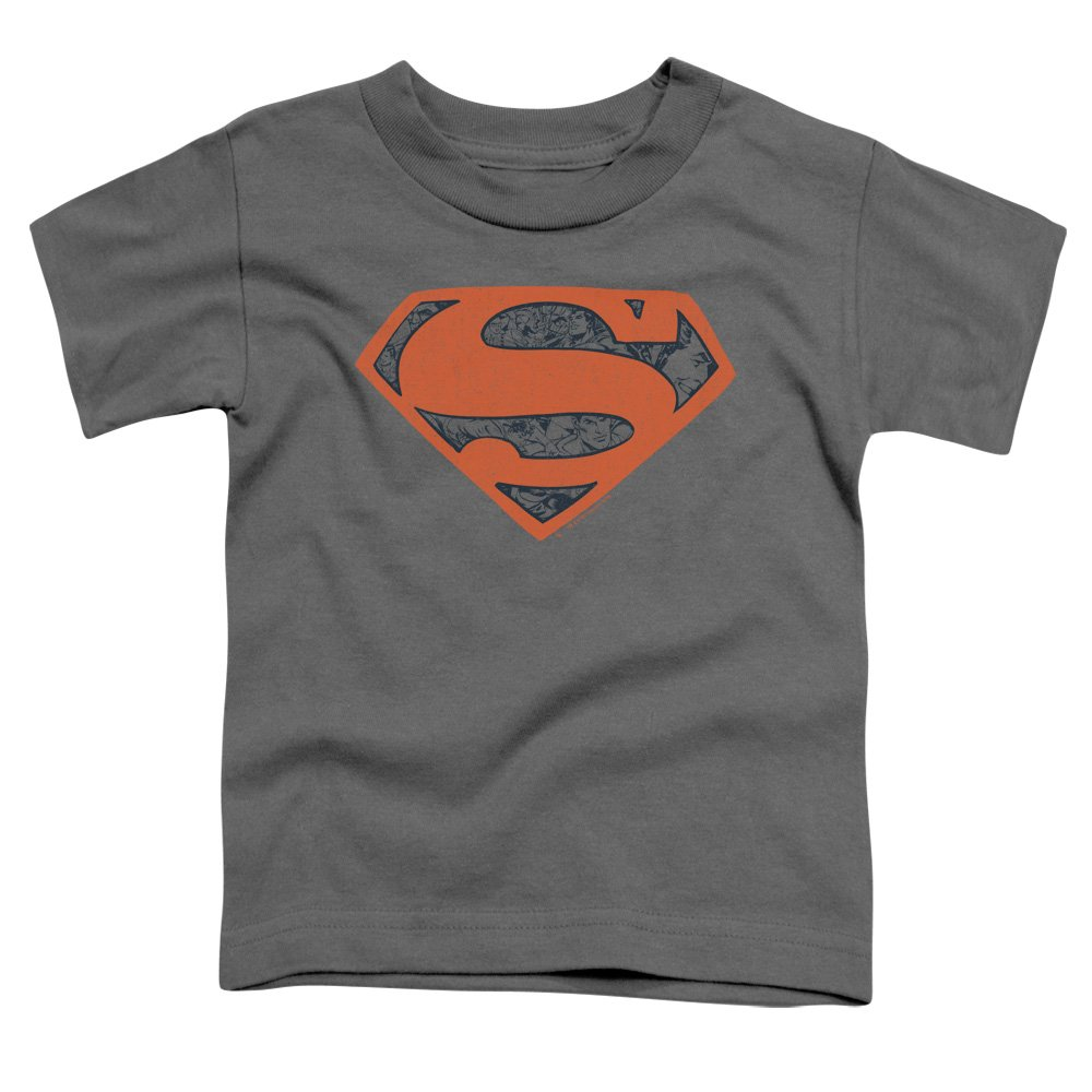 Superman Vintage Shield Collage Unisex Toddler T Shirt for Boys and Girls