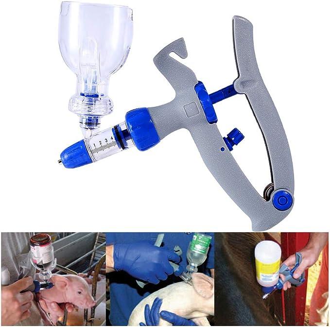 Veterinarios 5 Ml Auto vaccinator reutilizables de vacunación Drencher