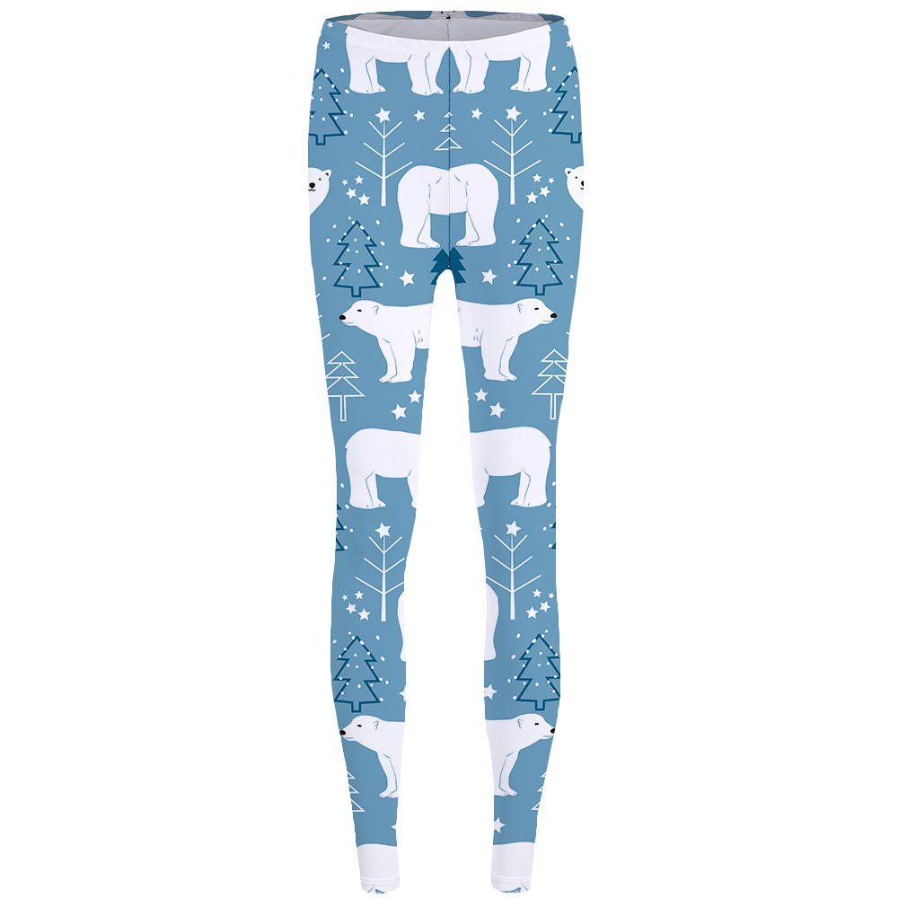 Sevem-D Women Ladies 3D Polar Bear Leggings Tree Leggins Russia 3D Pants Sexy Leggings Print Legging Leggings 03 One Size