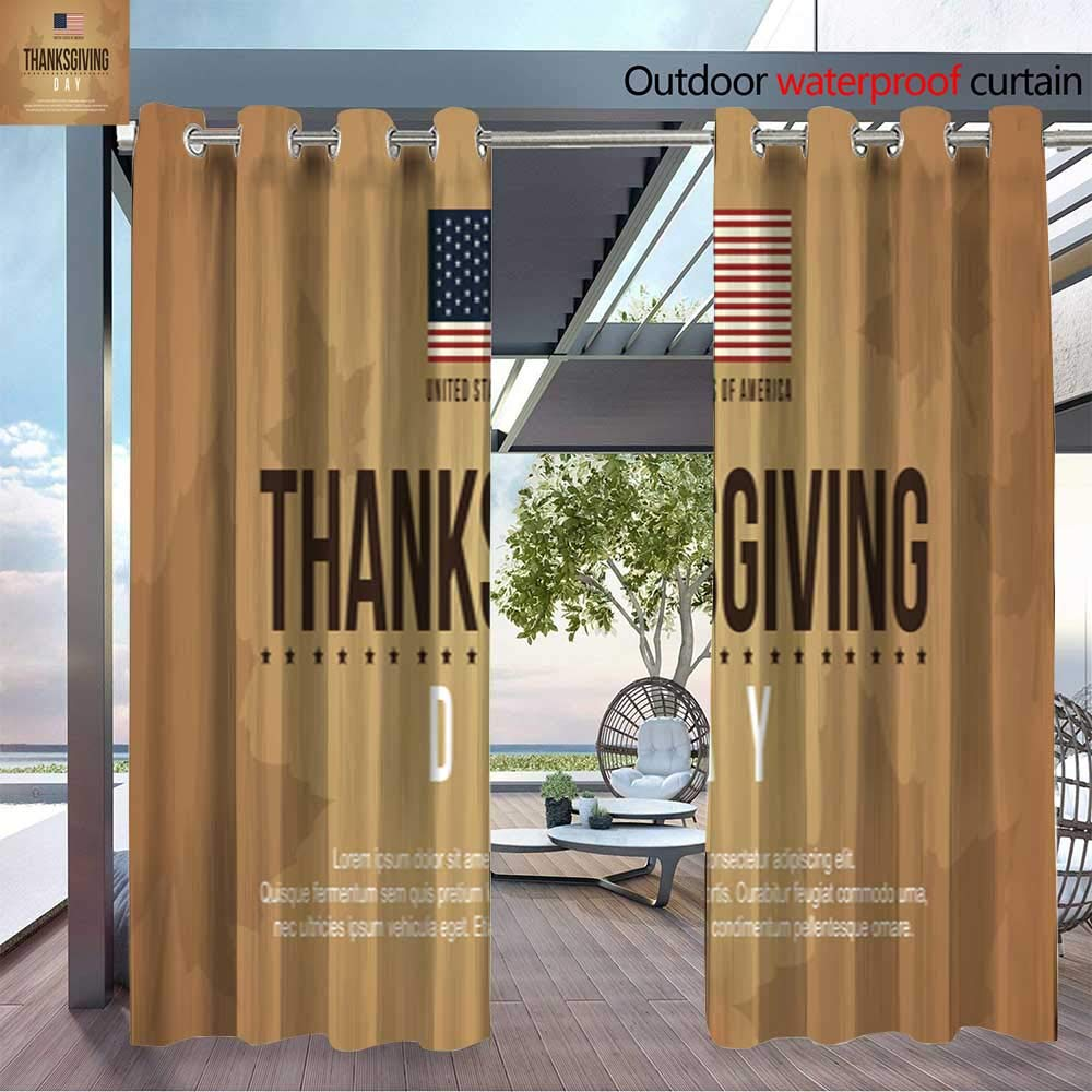 Amazon.com : Fashions Drape Thanksgiving Day Background Card Collection Vector Illustration Outdoor Curtain Waterproof Rustproof Grommet Drape W84 x ...