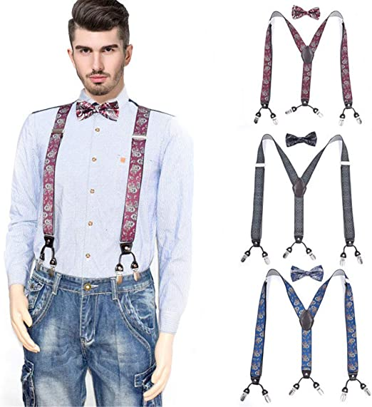Keliour-tie Corbatas de Lazo para Hombre Tirantes clásicos para ...