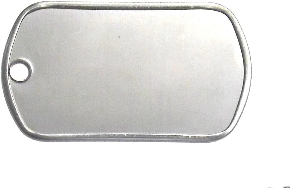5 TWO HOLE BLANK STAINLESS STEEL DOG TAG SHINY OR MATTE MILITARY SPEC FREE SHIP