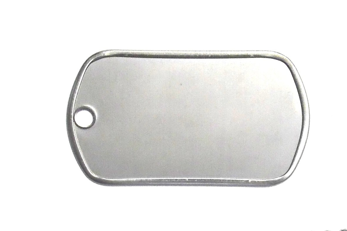 100 Shiny Stainless Steel Military spec Dog Tags - BLANK