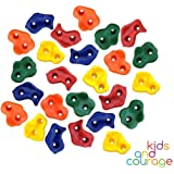25 Textured Rock Climbing Holds for Kids with Installation Hardware - Climbing Rocks For Your DIY Rock Wall