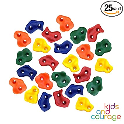 SCREW ON CLIMBING HOLDS 25 KIDS ROCK CLIMBING WALL HOLDS Made in the U.S.A