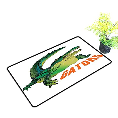 Amazon.com: Easy Care Door Mat Grumpy Alligator Has A Word Gator Crocodile Humor Wild Life Safari Aquatic Print Ideal Anti Slip Pad W35 x H19 INCH: Kitchen ...