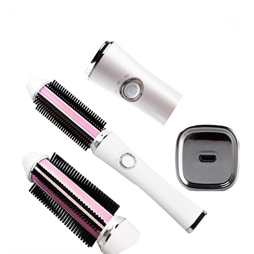 Alisador de pelo inalámbrico portátil cepillo eléctrico alisador de batería cepillo para viajar: Amazon.es: Salud y cuidado personal