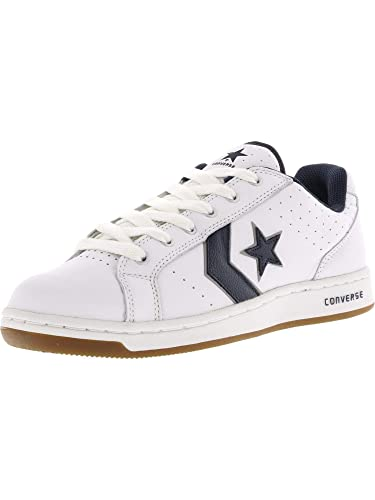 35f53f2e1407f4 Converse Men s Karve Ox White Navy Ankle-High Leather Fashion Sneaker ...