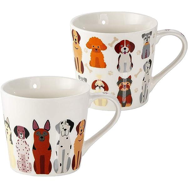 Mixed Pet Dog Breed Multi Dogs China Mug Presentation Box Tea Coffee Cup Gift