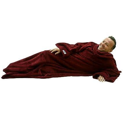 b9c81333b6 Ultimate Slanket - Ruby Wine Sleeved blanket with Sleeves  Amazon.co.uk   Kitchen   Home