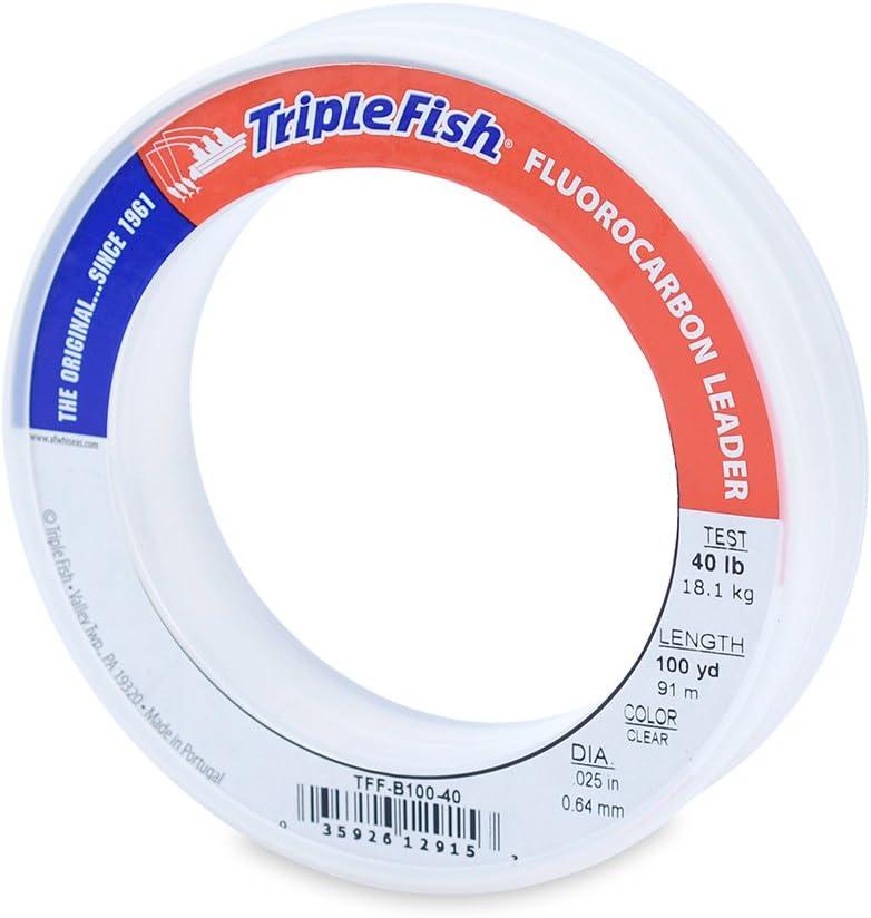60lb Hi-Seas 100/% Fluorocarbon Leader 25 yds