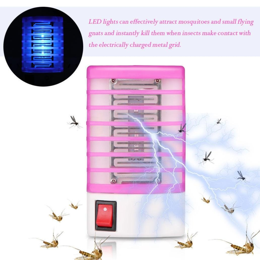 Ugood 1x Mosquitoes Killer Indoor Mosquito Zapper Bug Killerelectric Killerinsect Killermosquito Light Plug In Electronic Insect Gnat Flying Bugs Trap For Bedroom Home Porch