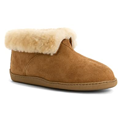 0dd62e8e958 Minnetonka Men's Sheepskin Ankle Boot Slippers