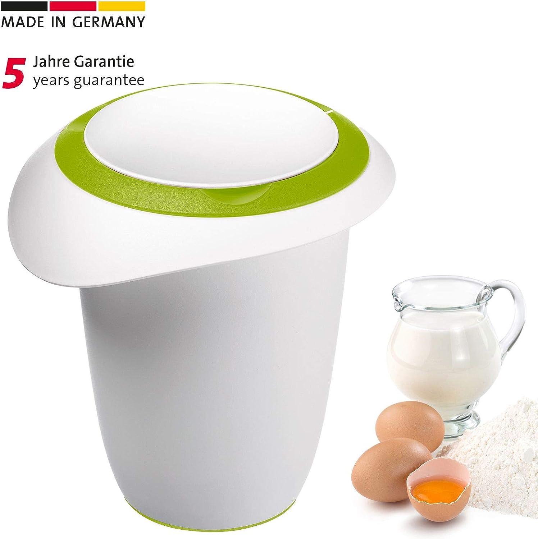 Westmark - Recipiente para Mezclar (1 l, Tapa de 2 Piezas), Color Verde y Blanco