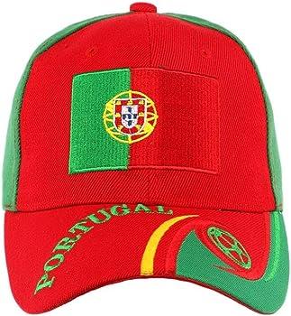 Portugal países-Gorra de la selección francesa de fútbol para hombre y mujer Verde verde Talla:talla única: Amazon.es: Deportes y aire libre