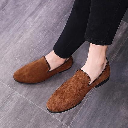 6181dfff41dea Amazon.com: XUEXUE Men's Suede Shoe Spring Summer Loafers & Slip-Ons ...
