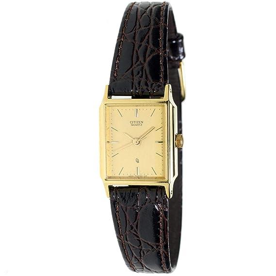 Citizen Ey-0092 Reloj Analogico Para Mujer Caja De Acero Inoxidable Esfera Color Gold: Amazon.es: Relojes