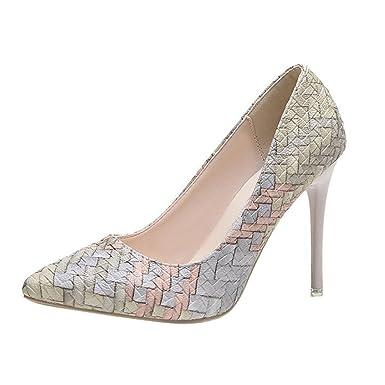c7eca2724b7 DENER Womens Ladies Girls High Heels Shoes