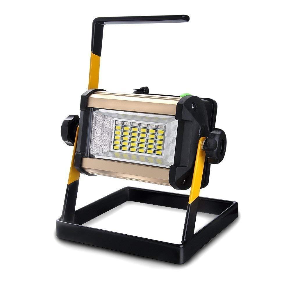 Luz de trabajo LED recargable EONYUANGUO 50W 36LED 2400LM Proyector port/átil a prueba de agua para acampar al aire libre