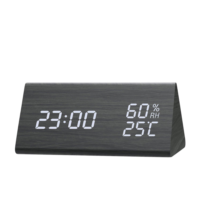 Amazoncom Digital Alarm Clock Wooden Alarm Clock