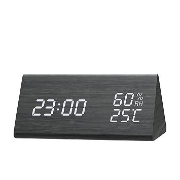 Amazon.com: Reloj despertador digital, [2018 nuevo] reloj ...