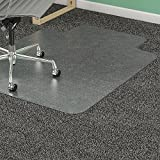 Lorell 46 by 60-Inch Wide Antistatic Chair Mat, 25 by 12-Inch Lip, Clear