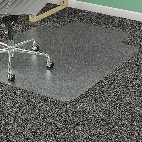 Wide 25x12 Lip Mats - Lorell 46 by 60-Inch Wide Antistatic Chair Mat, 25 by 12-Inch Lip, Clear