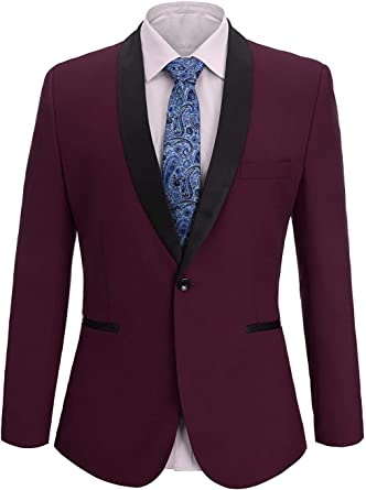 P.L.X Classic Mens Suits Two Piece Weddings Fit Slim Smoking