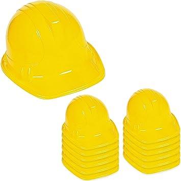 Amazon.com: Amarillo Construcción Sombrero Para Adultos – 12 ...