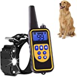 Shock Collar for Dog Training Collar with Remote 800 Yards Pet Trainer Rechargeable and Waterproof 1-99 Level of Shock and Vibration