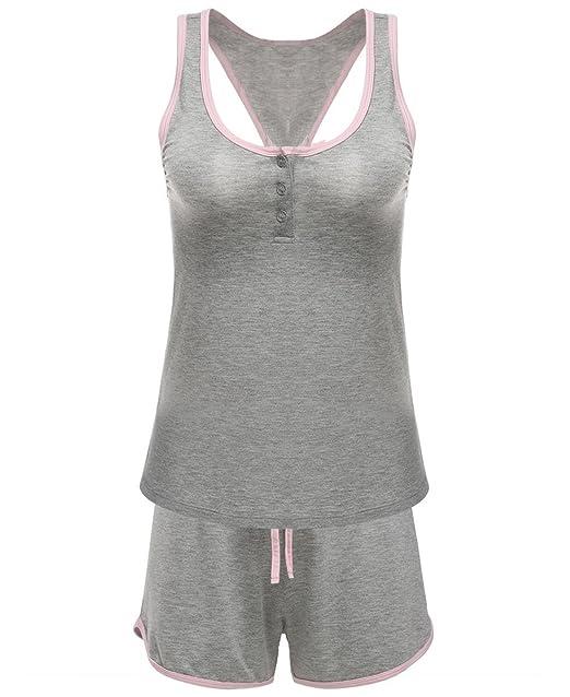 Bluetime Women s Sleepwear Sweet Nighty Sexy Camisole PJ Short Pajama Sets  (XL 493d89494