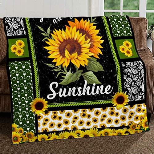 SMLBOO You are My Sunshine Sunflower Fleece Blanket Made 30X40 -