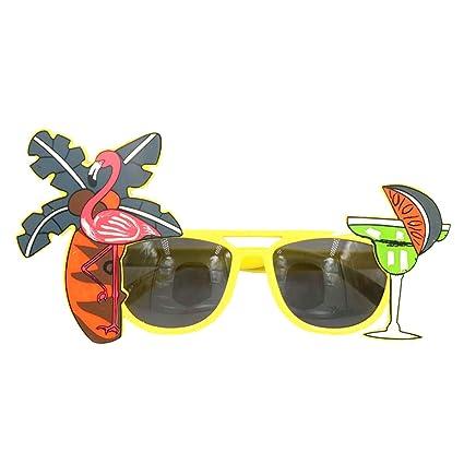 aa5fb375ed Amazon.com  Tinksky Tropical Hawaiian Flamingo Eyeglasses Coconut Tree  Juice Eye Glasses for Hawaii Luau Party Beach Gathering Beer Festival  Toys    Games