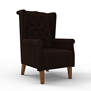 Forzza Lewis Wing Chair Brown (Brown)