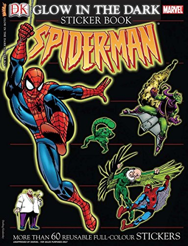 Ultimate Sticker Book: Glow in the Dark: Spider-Man: More Than 60 Reusable Full-Color -