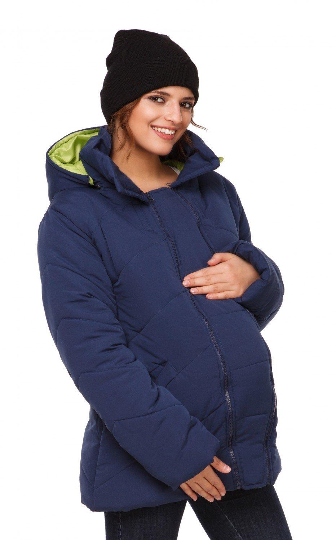 Happy Mama Para Mujer Chaqueta Guateada Capucha Inserción Extraíble Abrigo. 075p carrierjacket_075