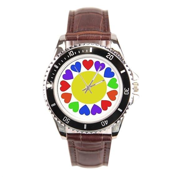 Ser un hombre acero inoxidable reloj bandas Gay lesbiana corazones barato Relojes de acero inoxidable: Amazon.es: Relojes