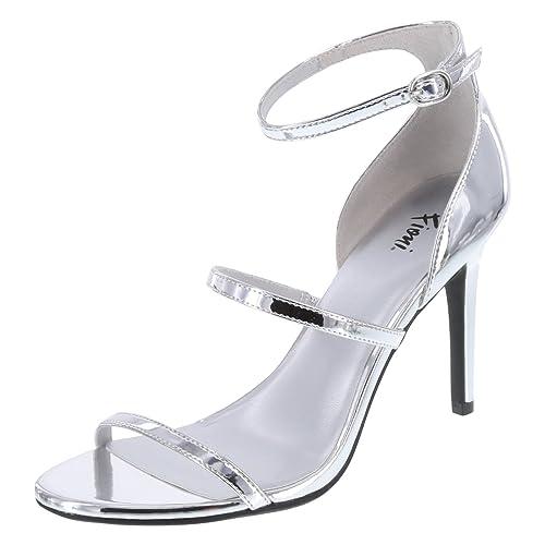 57a7d4a7392 Fioni Women s Silver Women s Jisele Strappy Sandal 6 Regular