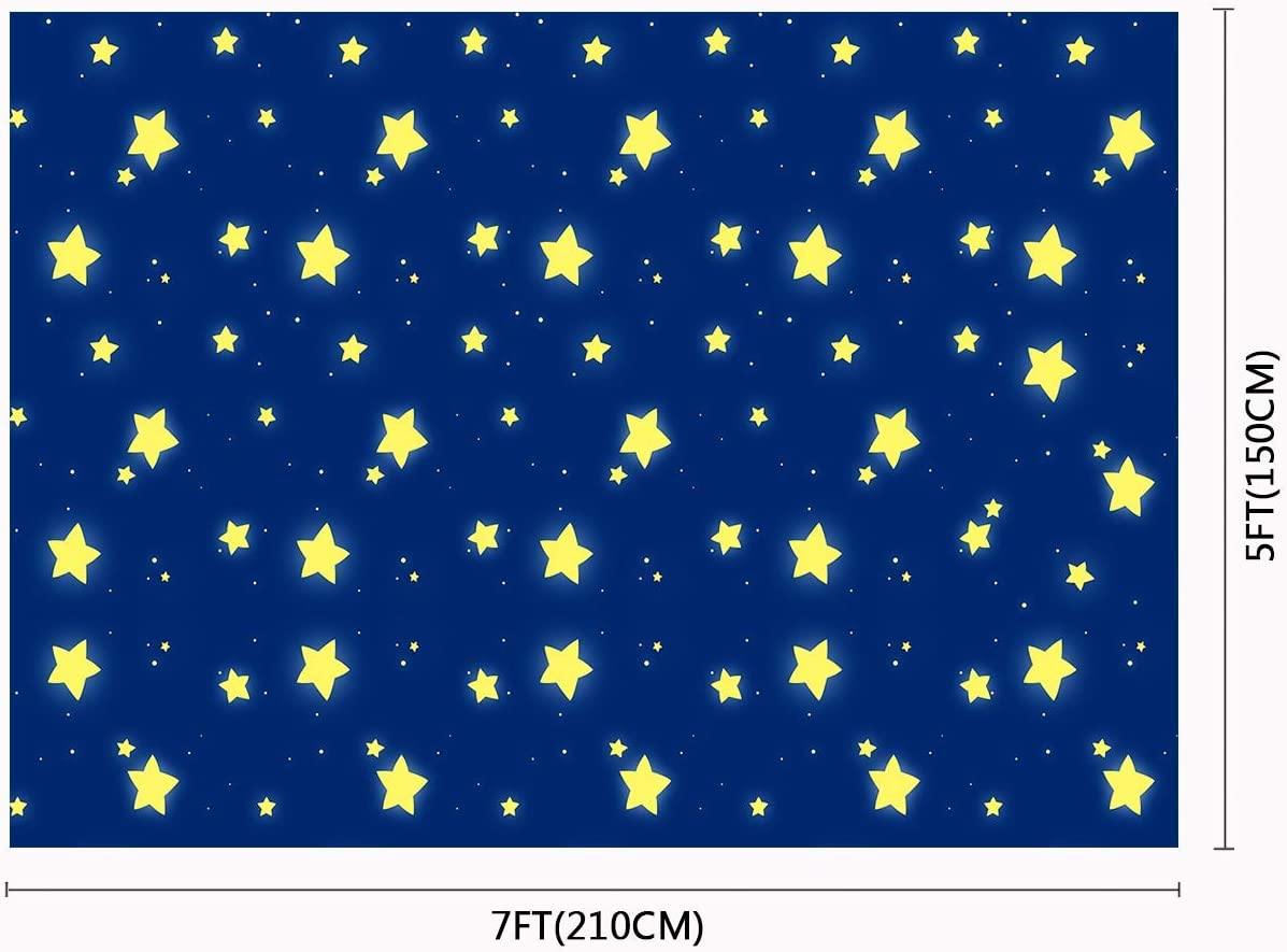 10x8ft Blue Sky Stars Backdrop Photography Props Studio Photo Background LYFU171