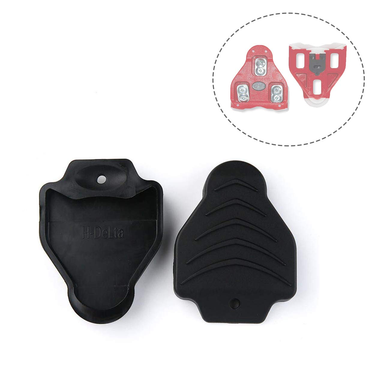 Thinvik Cleat Covers Bicycle Shoe Clipless Protector for Look Delta Pedal Cleats Systems(1 Pair) by Thinvik (Image #1)