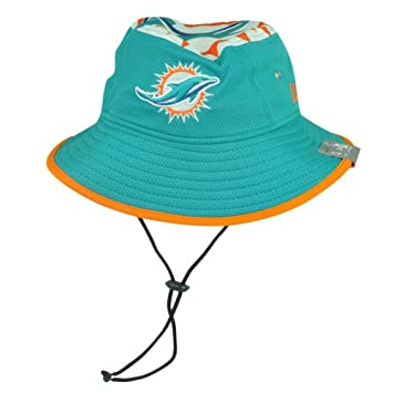 382adcd8099 Miami Dolphins New Era NFL  quot Logo Topper 2 quot  Performance Bucket Hat