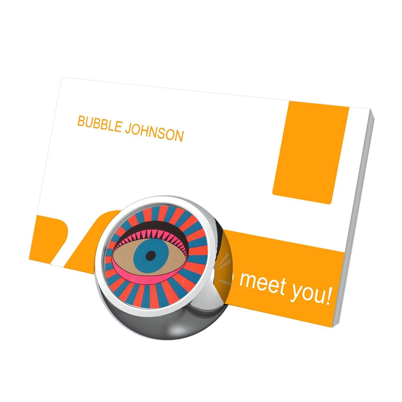 rose-patchビジネスカードホルダーデスク用、ビジネスカードスタンド、カスタマイズされたスタイリッシュなオフィスビジネスカード表示メタル シルバー  Kisses2. B07FN8R4J4