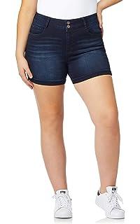 5d21b1d60b WallFlower Women's Juniors Plus Size InstaSoft Ultra Fit Denim Shorts